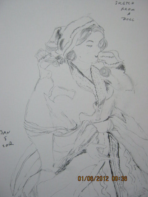 Sketch From Doll